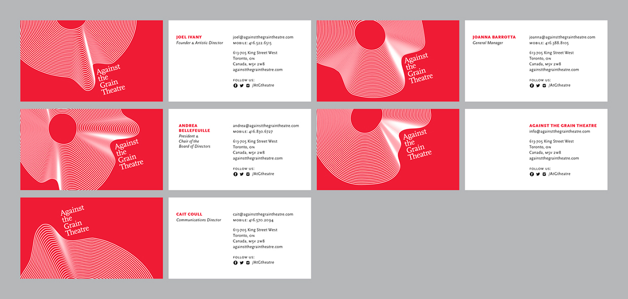 Against the Grain Theatre Business Cards