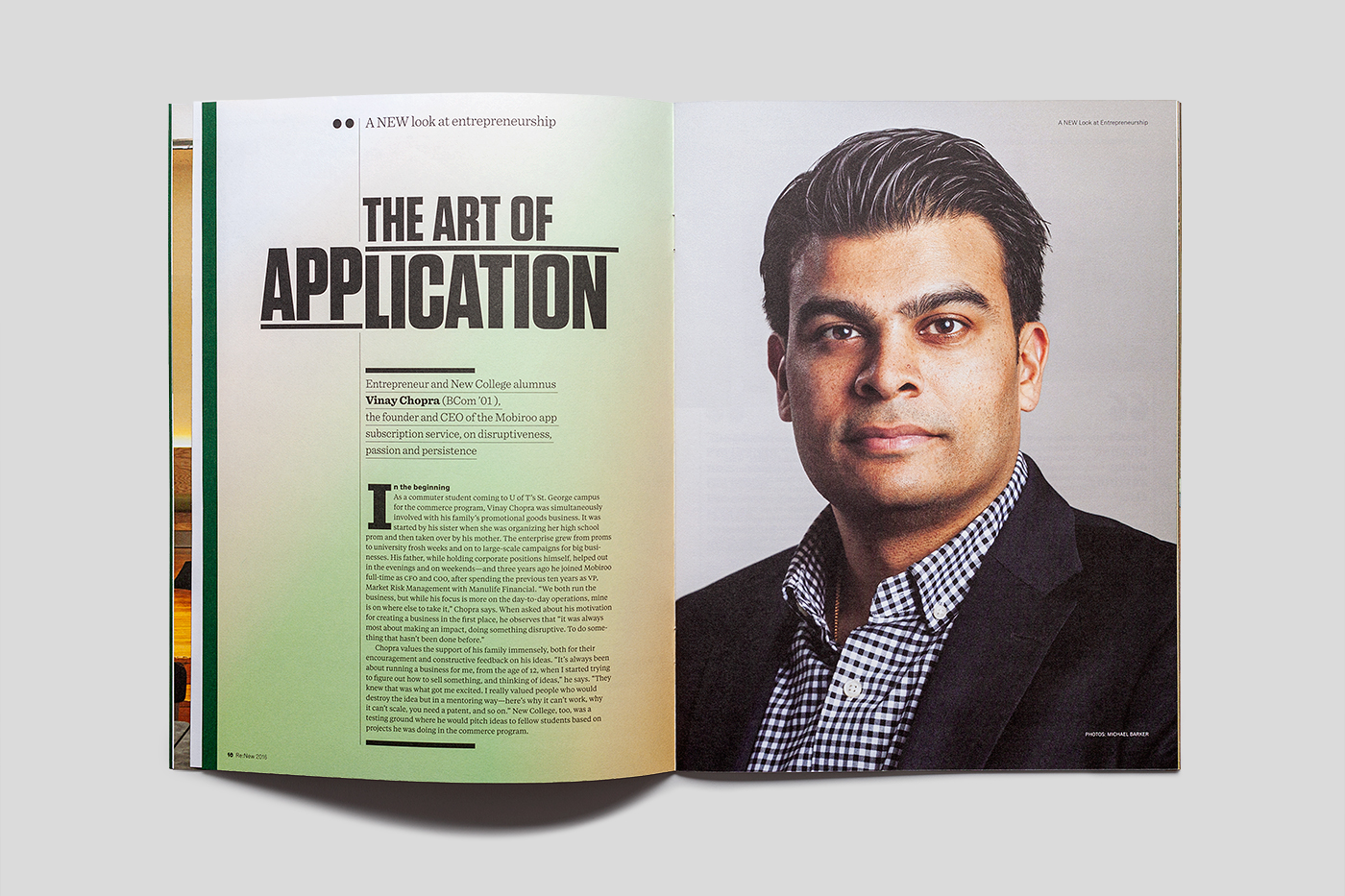 Re:New Magazine feature article: the Art of Application