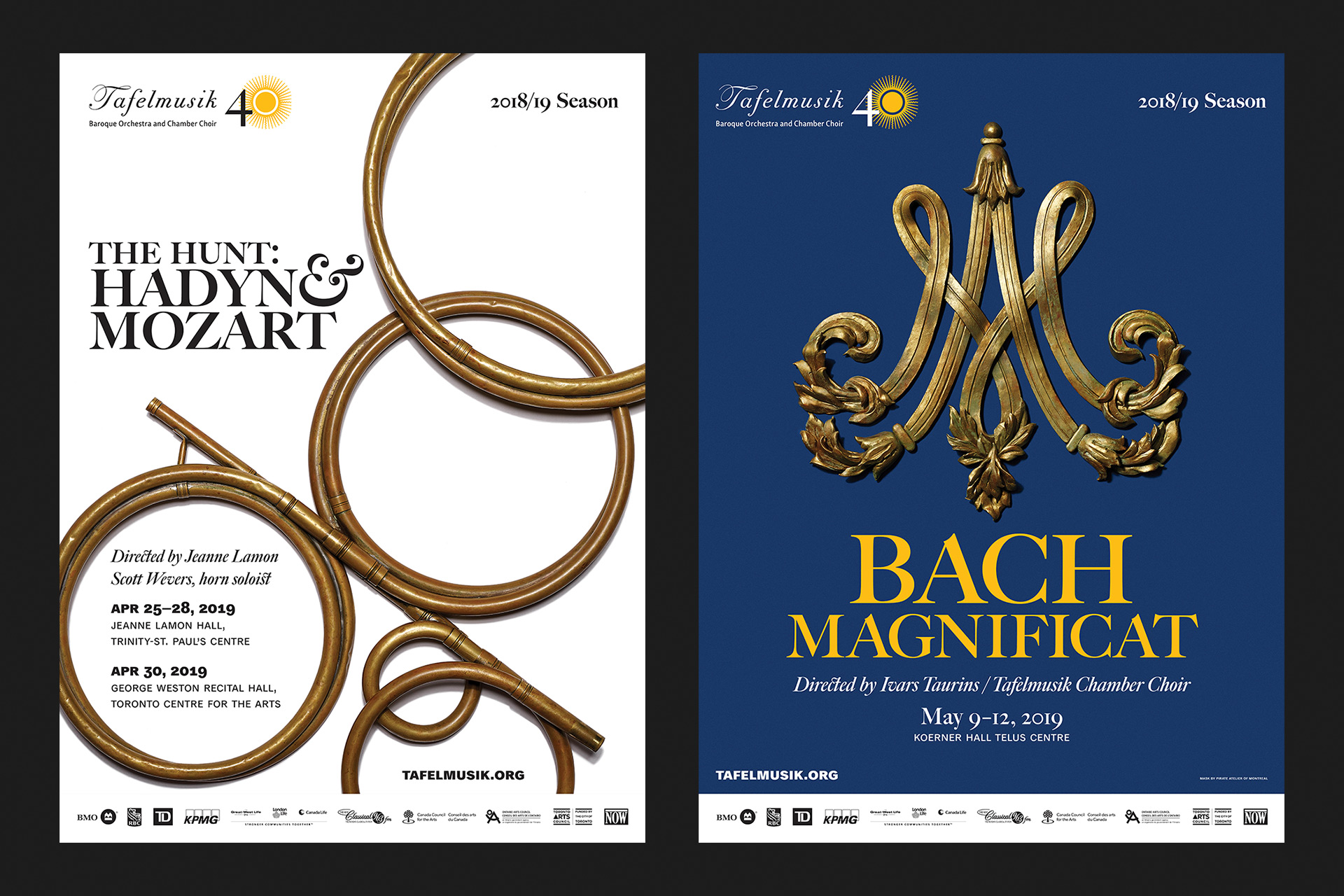 The Hunt: Hadyn & Mozart and Bach Magnificat posters