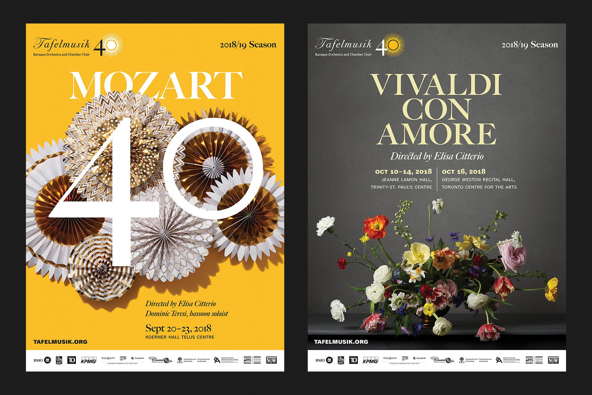 Mozart 40 and Vivaldi Con Amore posters
