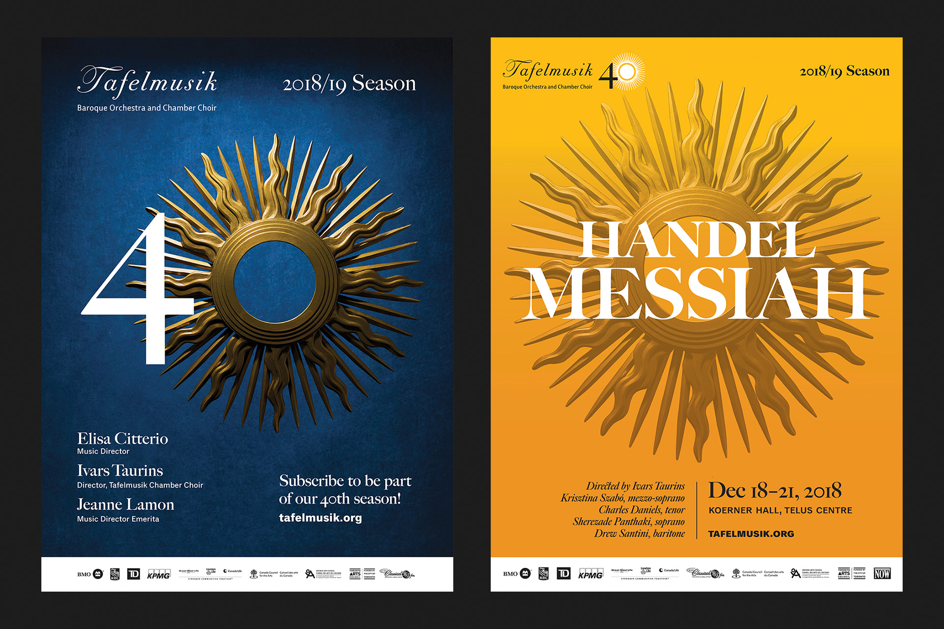 40th Anniversary and Handel Messiah Posters