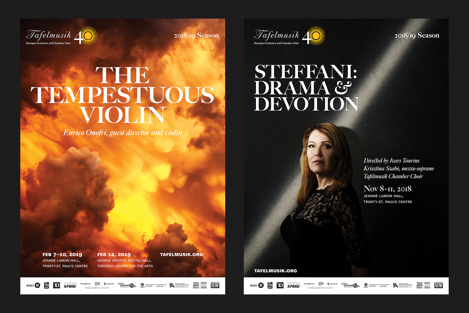 The Tempestuous Violin and Steffani: Drama & Devotion posters