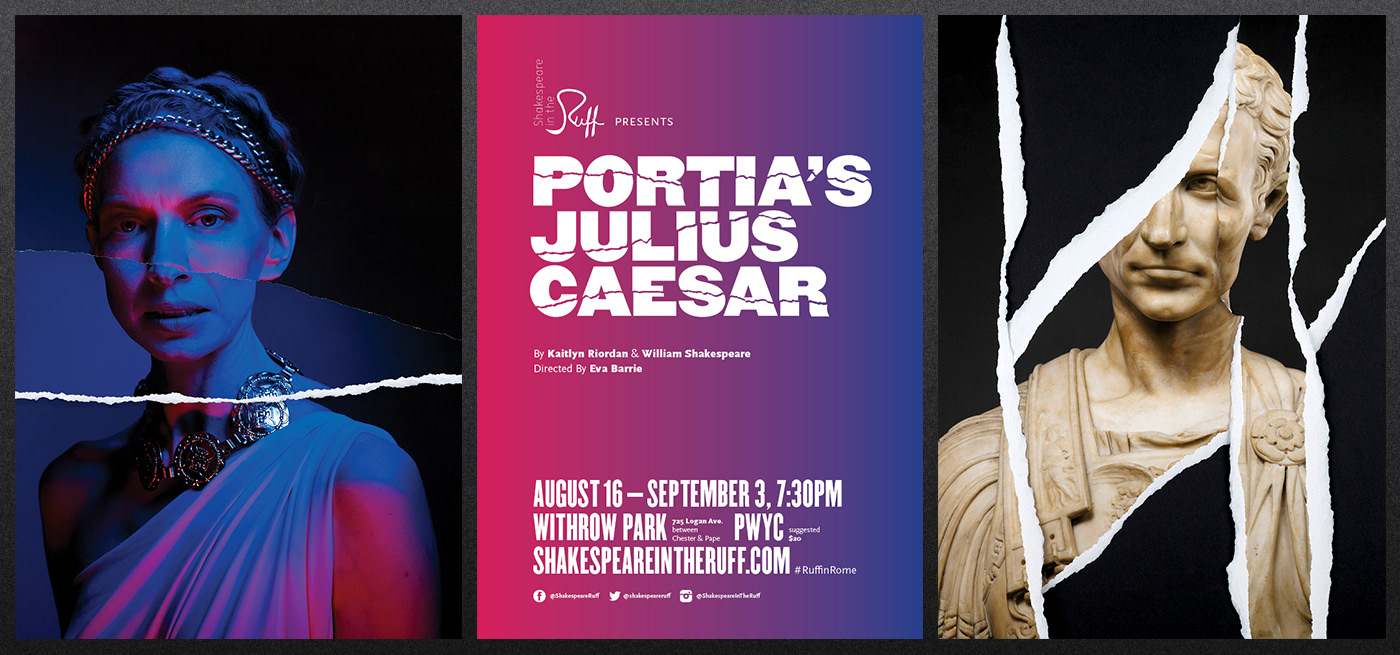 Portia's Julius Caesar TTC posters