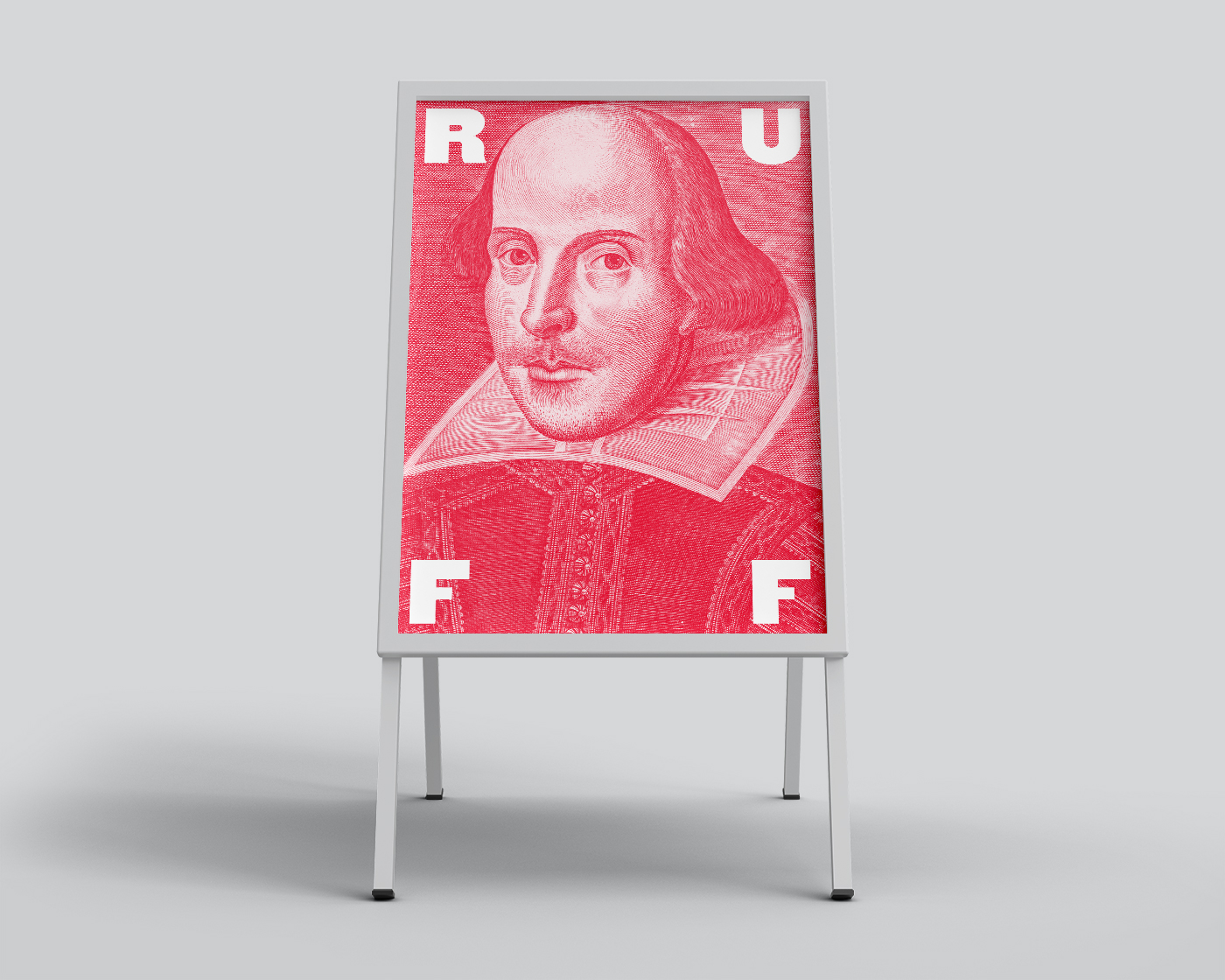 Shakespeare in the Ruff sandwich board