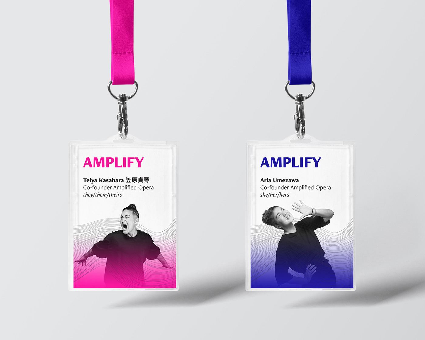 An image of two lanyards.