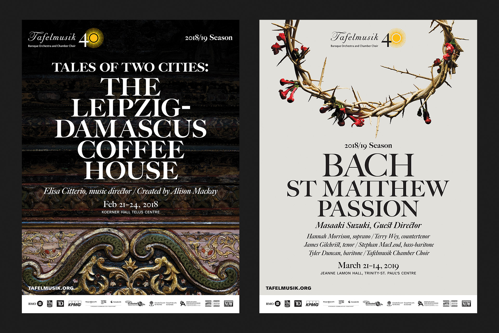 Tales of Two Cities: The Leipzig-Damascus Coffee House and Bach St Matthew Passion posters