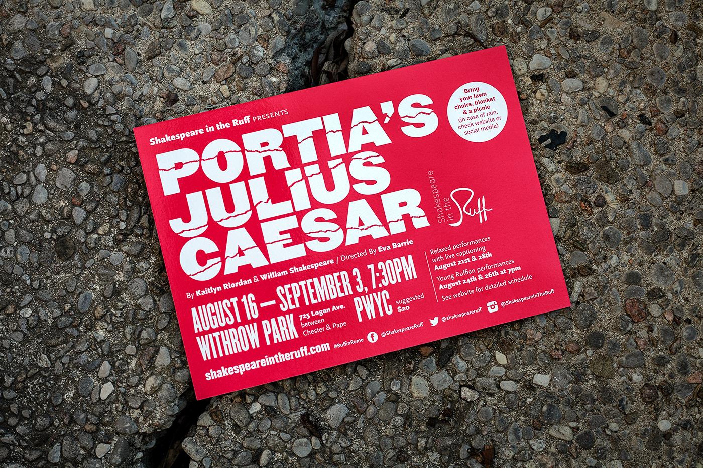 Portia's Julius Caesar postcard