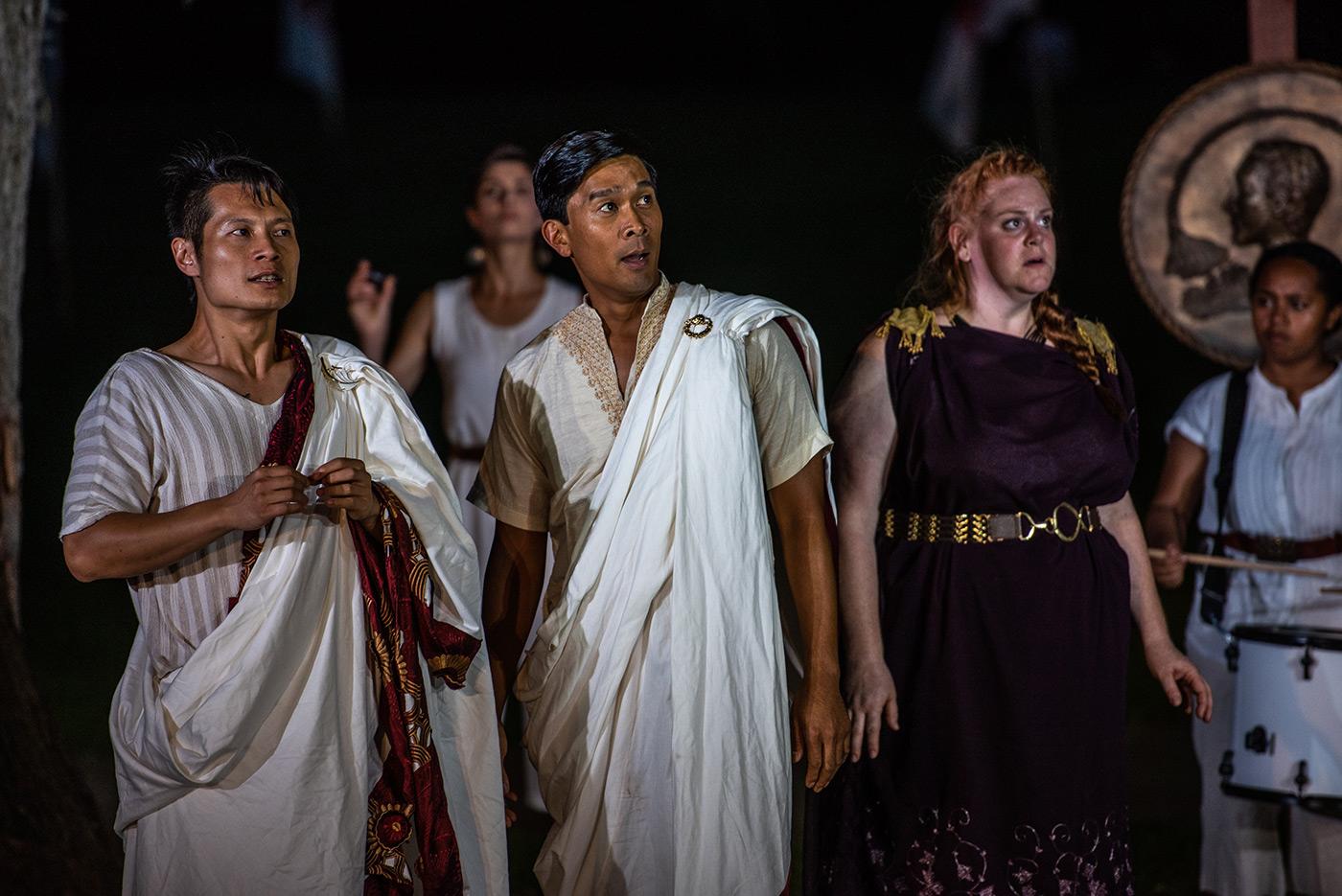 Production still from Portia's Julius Caesar