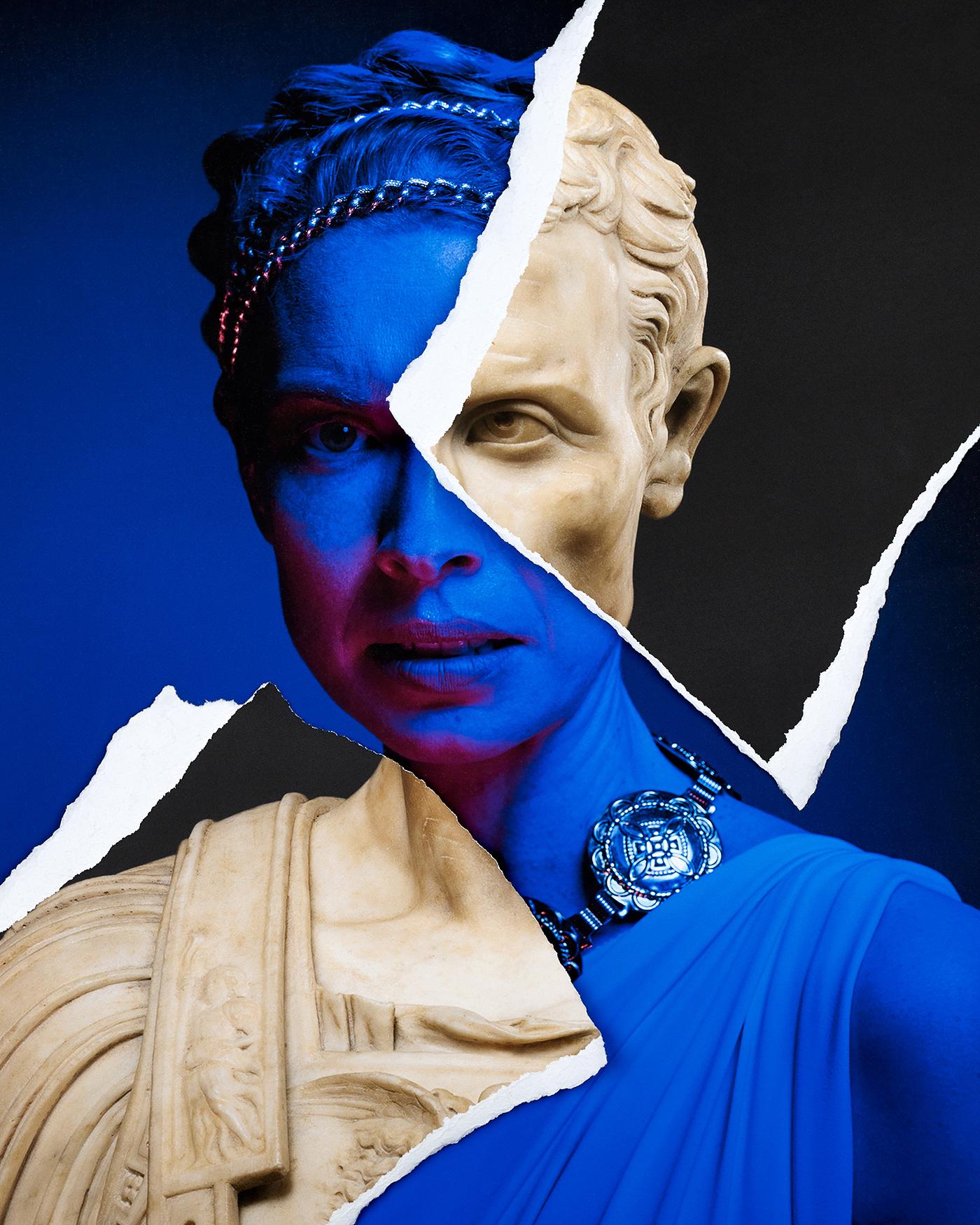 Portia and Caesar Collage