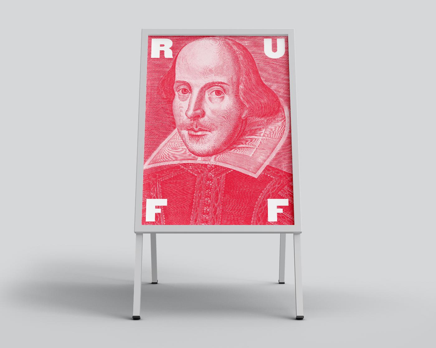 Shakespeare in the Ruff sandwich board