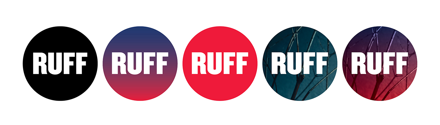 """Shakespeare in the Ruff avatars for social media: """"RUFF"""" in a circle."""
